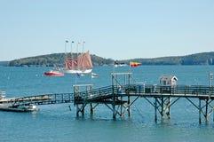 Porto di Antivari, Maine, visualizzazione della porta Immagini Stock Libere da Diritti
