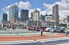 Porto di Auckland, Nuova Zelanda Immagini Stock Libere da Diritti
