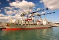 Porto di Auckland, Nuova Zelanda fotografia stock