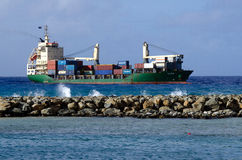 Porto di Avatiu - isola di Rarotonga, cuoco Islands Fotografia Stock Libera da Diritti