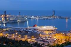 Porto di Barcellona Immagini Stock