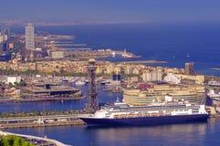 Porto di Barcellona Spagna fotografia stock libera da diritti