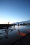 Porto di bassa marea fotografie stock