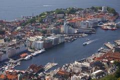 Porto di Bergen Fotografie Stock Libere da Diritti