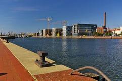 Porto di Bremerhaven, Germania Fotografia Stock Libera da Diritti