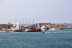 Porto di Brindisi in Italia del sud immagine stock