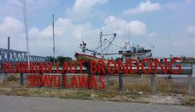 Porto di Brondong Immagini Stock