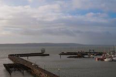 Porto di Carrickfergus in Irlanda del nord Fotografia Stock Libera da Diritti