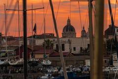 Porto di Catania, 2017 Fotografie Stock