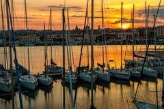 Porto di Catania, 2017 Immagine Stock