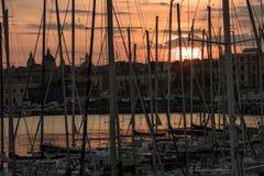 Porto di Catania, 2017 Fotografia Stock Libera da Diritti