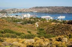 Porto di Chania fotografie stock libere da diritti