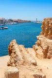 Porto di Chania Crete, Grecia Fotografia Stock