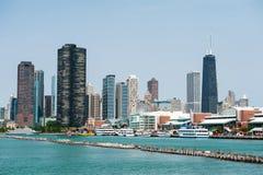 Porto di Chicago Immagini Stock Libere da Diritti