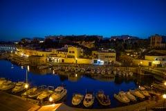 Porto di Ciutadella in Menorca, Spagna fotografia stock libera da diritti