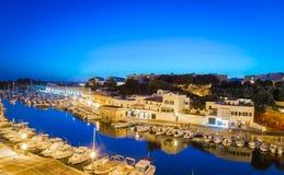 Porto di Ciutadella in Menorca, Spagna immagine stock libera da diritti