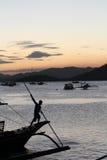 Porto di Coron, Palawan immagini stock