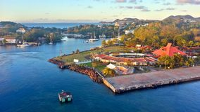 Porto di crociera nello St Lucia fotografia stock