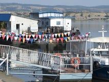 Porto di Danubio, Drobeta Turnu-Severin, Romania Immagine Stock Libera da Diritti