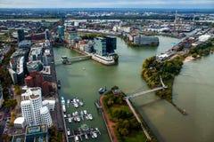 Porto di Duesseldorf Fotografia Stock