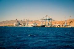 Porto di Eilat, Israele Immagine Stock