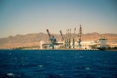 Porto di Eilat, Israele Immagini Stock