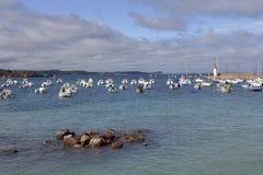 Porto di Erquy in Francia Fotografia Stock