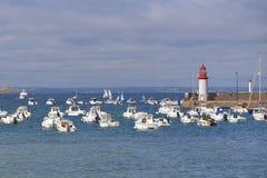 Porto di Erquy in Francia Immagine Stock