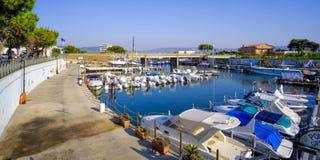 Porto di Foce Varano Foce Varano docks - Ischitella - Apulia - Gargano Stock Photo