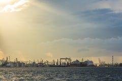 Porto di Gdynia Immagini Stock