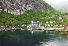 Porto di Geiranger in Norvegia Immagine Stock Libera da Diritti
