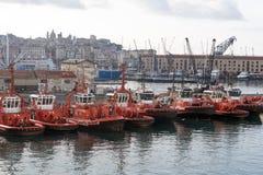 Porto di Genova Immagine Stock
