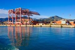 Porto di Genova immagini stock libere da diritti