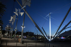 Porto di Genova il Bigo Arkivfoton