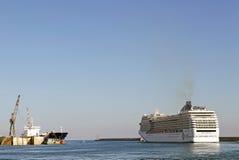 Porto di Genova, Italia Fotografia Stock Libera da Diritti