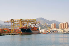 Porto di Genova, Italia Immagine Stock Libera da Diritti