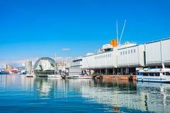 Porto di Genova in Italia del Nord fotografia stock