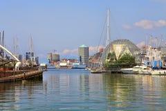 Porto di Genova. L'Italia. immagini stock