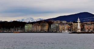 Porto di Ginevra Fotografia Stock Libera da Diritti