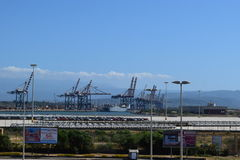 Porto di Gioia Tauro - Capo Ray Fotografia Stock Libera da Diritti
