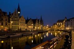 Porto di Graslei in Gent Fotografia Stock
