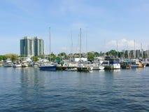 Porto di Hamilton    immagini stock libere da diritti