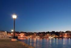 Porto di Hania al tramonto Fotografia Stock Libera da Diritti