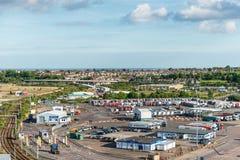 Porto di Harwich, Essex, Inghilterra, Regno Unito fotografie stock libere da diritti