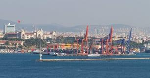 Porto di Haydarpasa, Costantinopoli Fotografia Stock Libera da Diritti