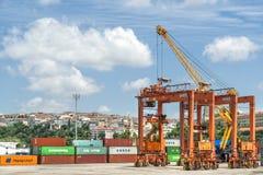 Porto di Haydarpasa, Costantinopoli, Turchia immagine stock