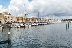 Porto di Hellevoetsluis, Paesi Bassi fotografie stock