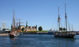 Porto di Helsingor Fotografia Stock