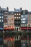 Porto di Honfleur, Normany, Francia Fotografia Stock