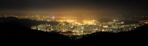 Porto di Hong Kong Port Victoria Fotografie Stock Libere da Diritti